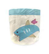 [Bebe Living] Big Foldable Washable Storage Bin - Made of Waterproof Cotton Canvas with 3D Embroidery Motif (Available in 10 designs)