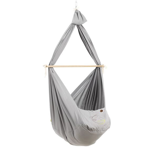 [NONOMO®] Swinging Hammock-Set Baby Classic with Polyester Mattress and Ceiling Fixture - 2 Colors Available