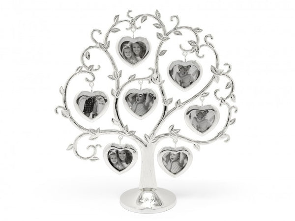 [Zilverstad] Family tree Heart for 2x 7 photos, silver plated lacquered