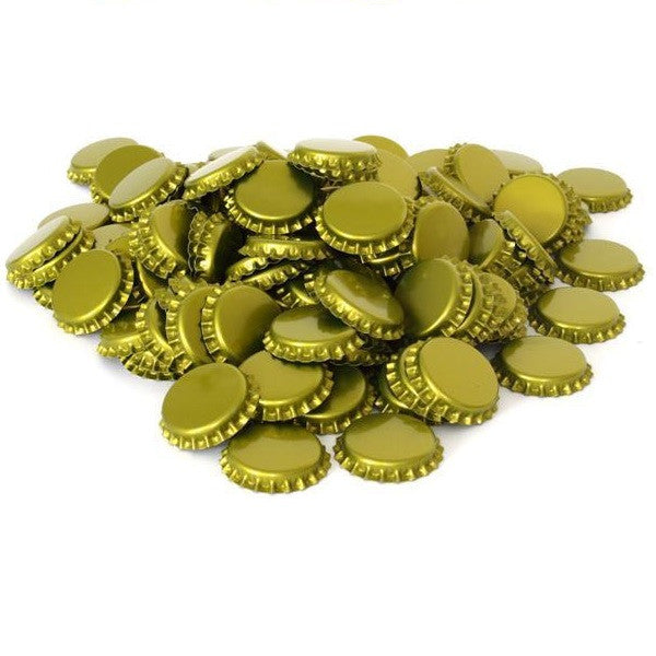 Gold Beer Bottle Caps