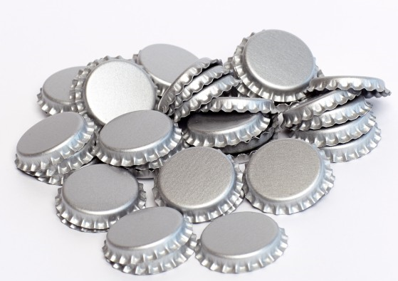 Bottle Caps - 144 Pack Silver