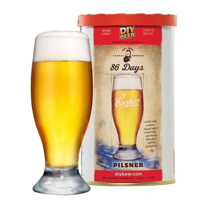 86 Days Pilsner - Coopers Beer Kit