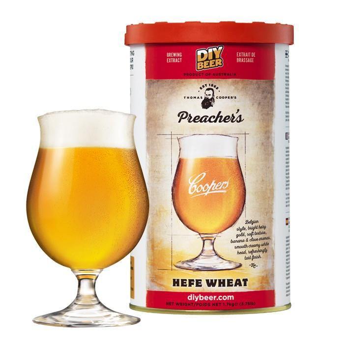 Preacher's Hefe Wheat Beer - Thomas Coopers Beer Kit