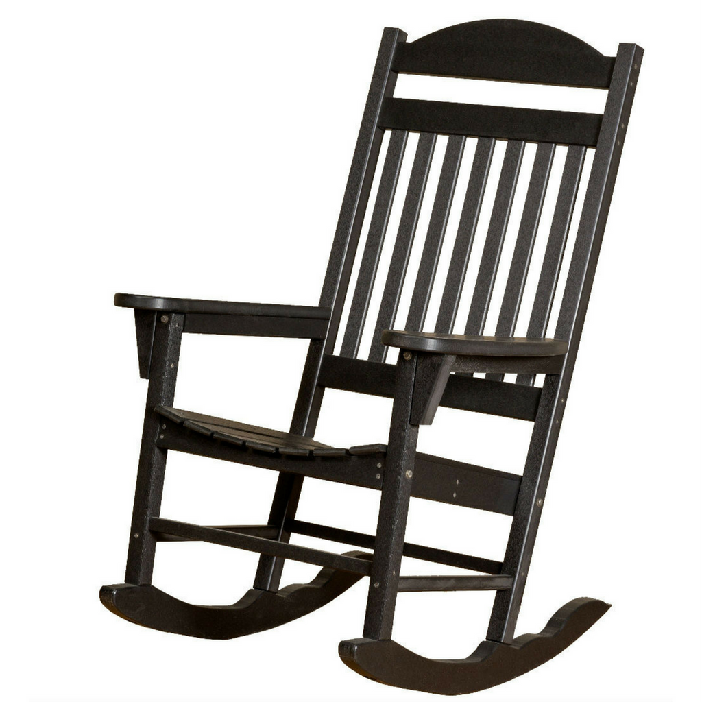 Black outdoor rocking chairs - Little Cottage Company Traditional Rocking Chair In Black