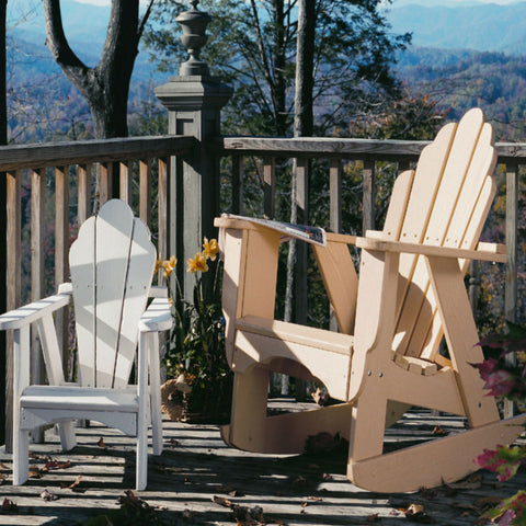 Uwharrie 4012 Fanback Outdoor Adirondack Rocking Chair