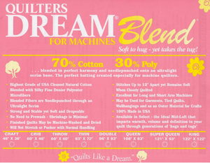 Quilter's Dream Blend - Double