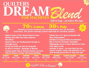 Quilter's Dream Blend - Crib