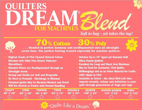 Quilter's Dream Blend - King