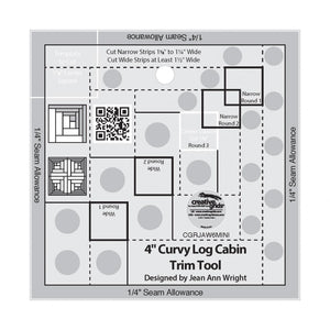 "CG - 4"" Curvy Log Cabin"