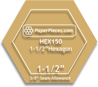 Acrylic Hexagon Template