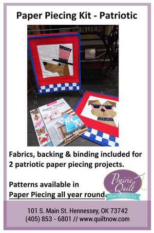 Paper Piecing Kit- Patriotic