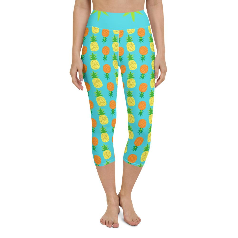 Yoga Capri Legging Pineapple