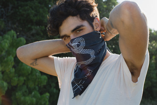 Charcoal Serpent Bandana