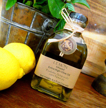New A&A Infused Oil: Lemon Infused Extra Virgin Olive Oil