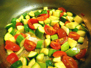 Sautéed Zucchini with Cherry Tomatoes