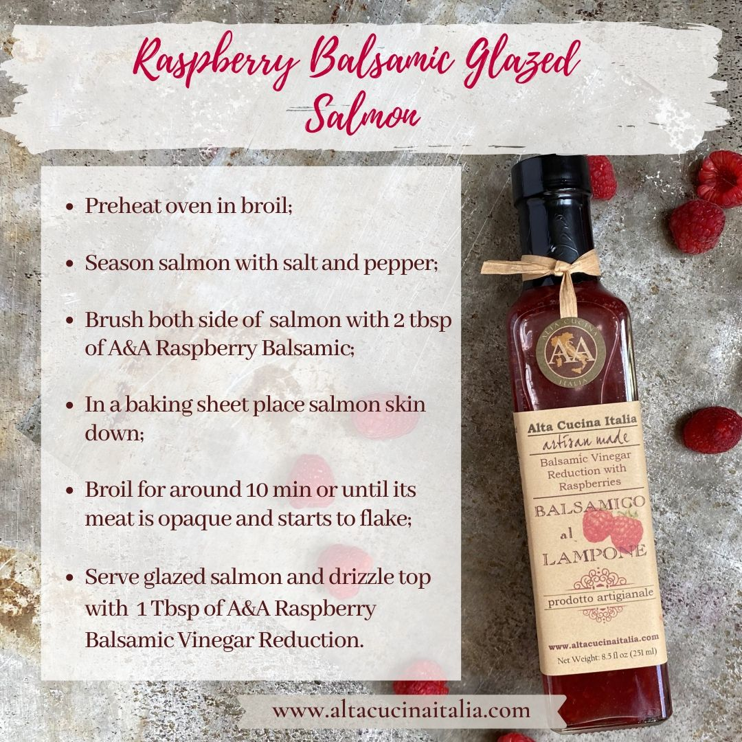 Raspberry Balsamic Glazed Salmon