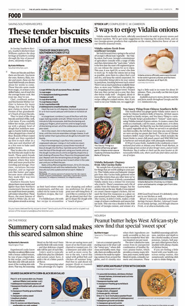 Vidalia Balsamic Onion Chutney Alta Cucina Italia featured Atlanta Journal Constitution Apr 2018