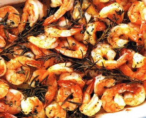 roasted shrimps with rosemary