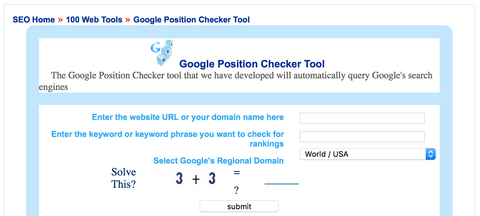 Google Rank Checker