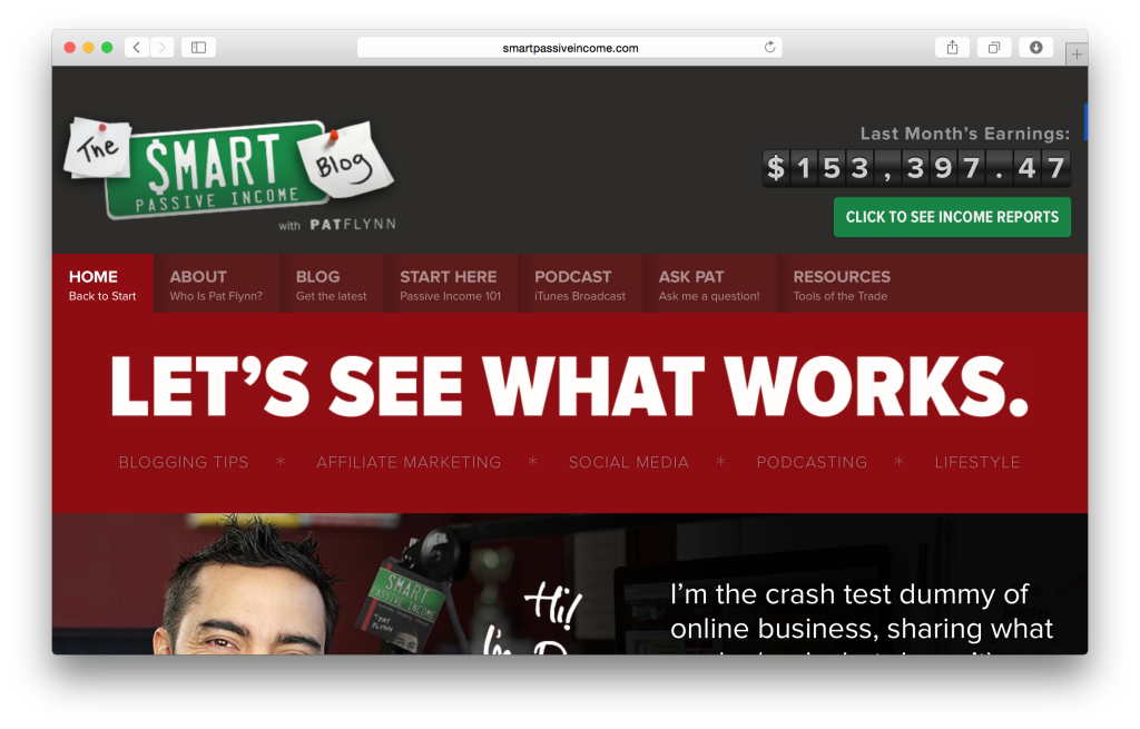 The Smart Passive Income Blog by @PatFlynn
