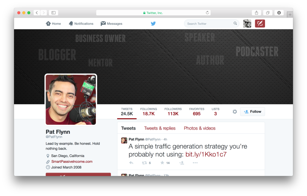 Lead by example. Be honest. Hold nothing back. @PatFlynn