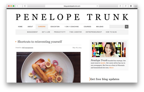 Author, Blogger, Entrepreneur @penelopetrunk