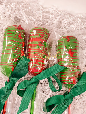Christmas Chocolate Covered Twinkies, Red and Green