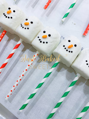 Snowman Chocolate Covered Twinkies