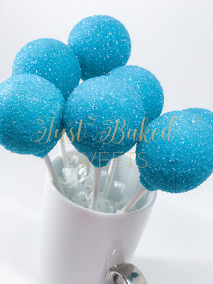 Teal Blue Cake Pops