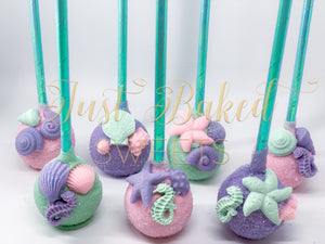 Under The Sea Cake Pops in Pink, Lilac and Mint Green