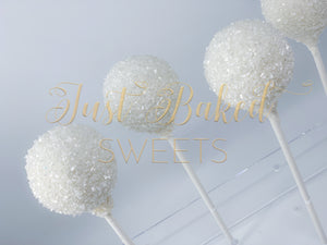White Sprinkle Cake Pops