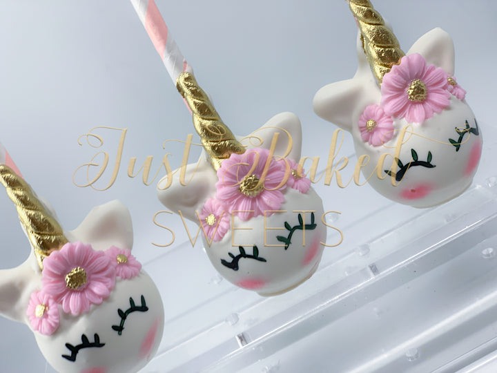 Unicorn Cake Pops in all Pink