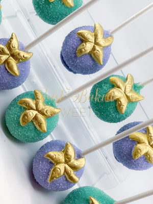 Under The Sea Cake Pops With Starfish in Lilac and Mint Green