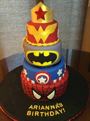 Super Hero Tiered Cake