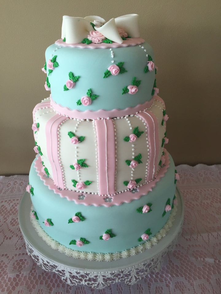 Shabby Chic Rose Tiered Cake