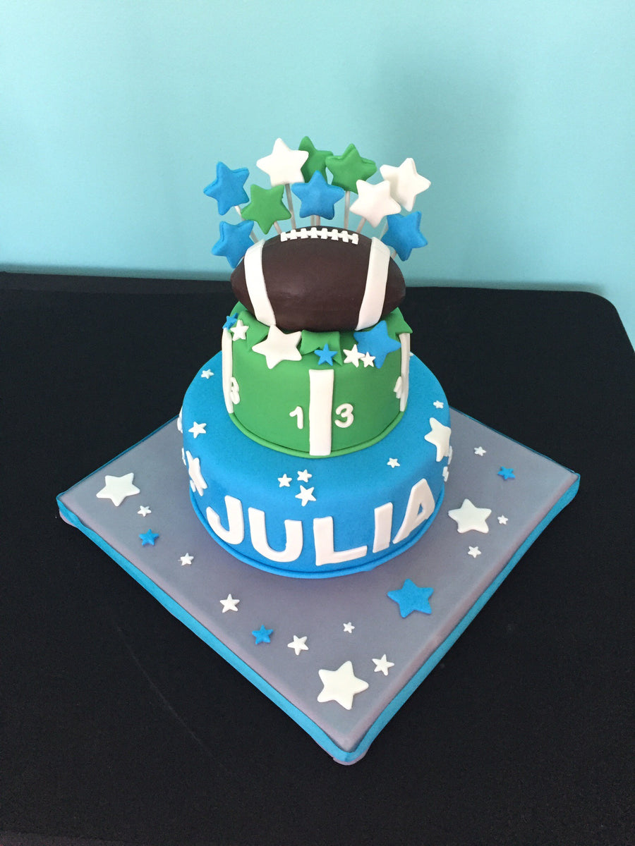Football Tiered Cake