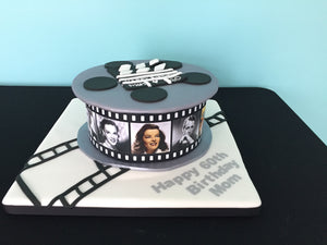 Classic Hollywood Reel Cake