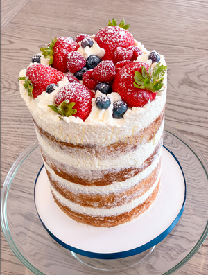 Red White and Blue Berry Cake