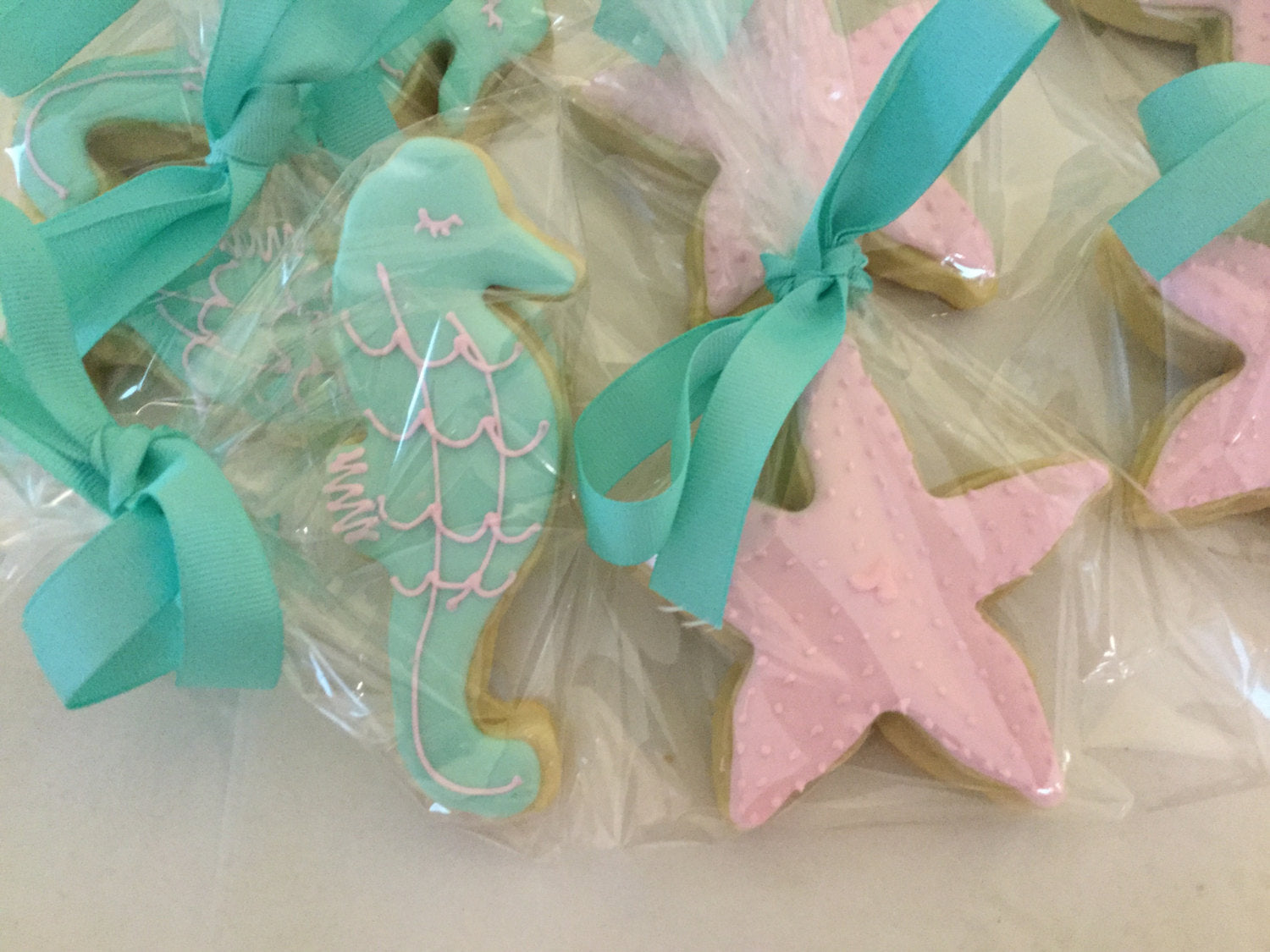 Pastel Seahorse And Starfish Cookies Under The Sea Theme Just Baked Sweets