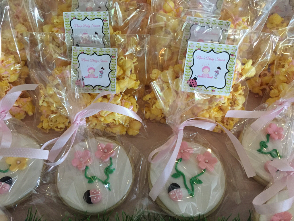 Baby Shower Popcorn Favor Bags