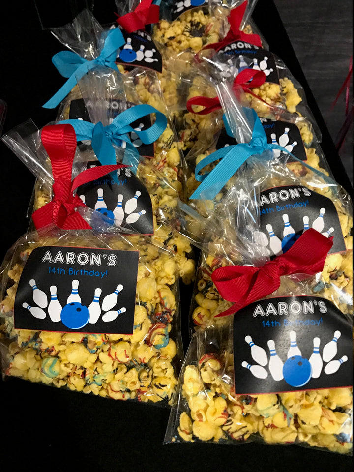 Boys Birthday Party Popcorn Bags