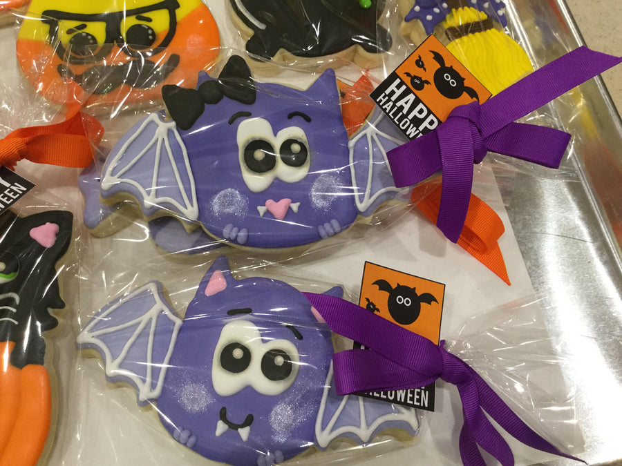 Halloween Bat Jumbo Cookies
