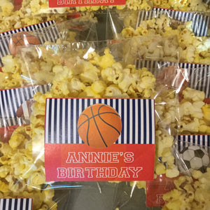 Birthday Party Personalized Party Favor Popcorn Bags