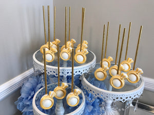 Engagement Ring Decorated Cake Pops