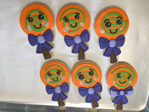 Halloween Lollipop Jumbo Cookies