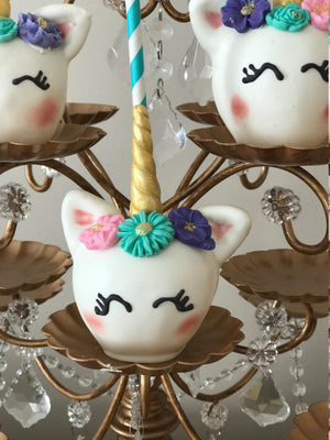 Unicorn Chocolate Covered Apples