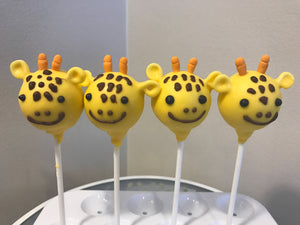 Giraffe Cake Pop | Animal Theme Cake Pops