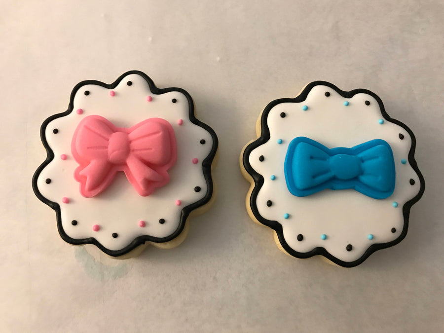 Gender Reveal Sugar Cookies Assortment | Pink and Blue Cookie Assortment | Baby Shower