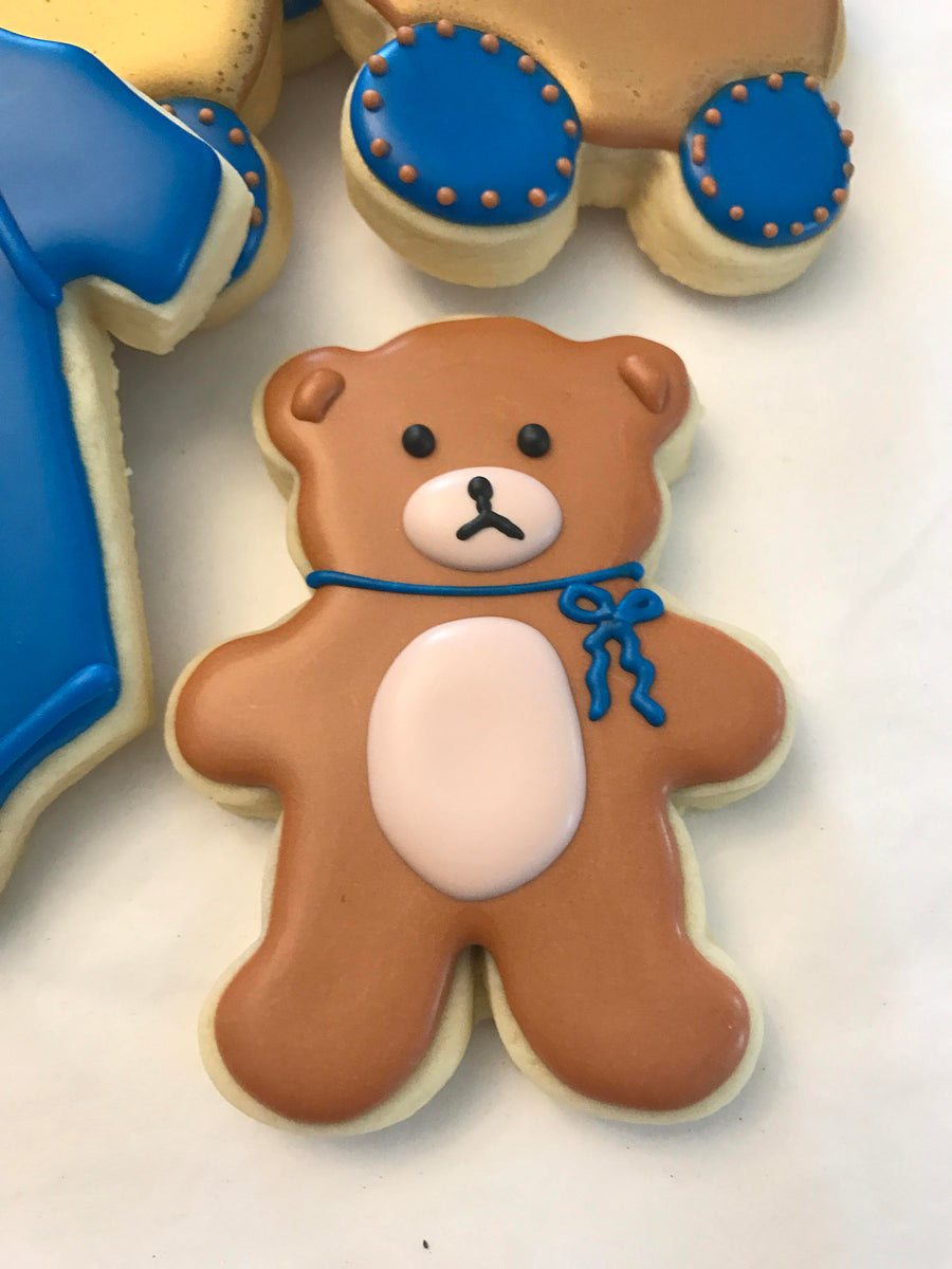 Teddy Bear Baby Shower Cookie Assortment | Baby Boy Shower Cookies