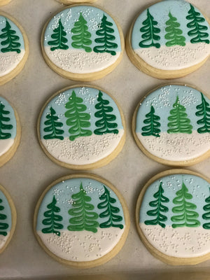 Winter Snow Globe Cookies